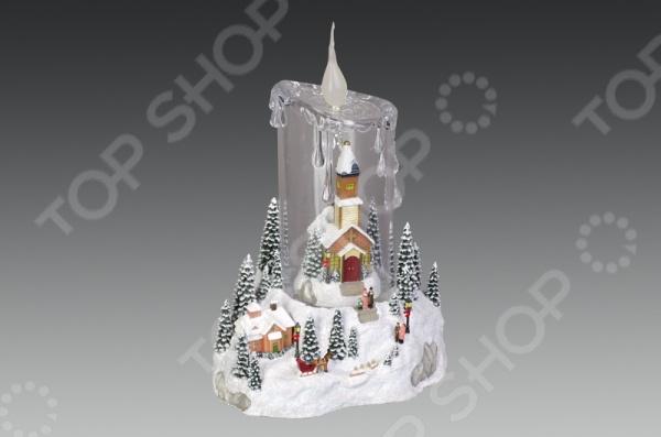 Музыкальная композиция с подсветкой Holiday Classics «Ледяная свеча» 1709286