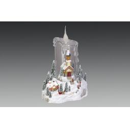 фото Музыкальная композиция с подсветкой Holiday Classics «Ледяная свеча» 1709286