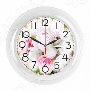 Часы настенные Вега П 6-7-106 «Букет. Белые розы» часы настенные вега п 1 6 6 7