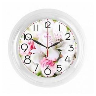 Купить Часы настенные Вега П 6-7-106 «Букет. Белые розы»