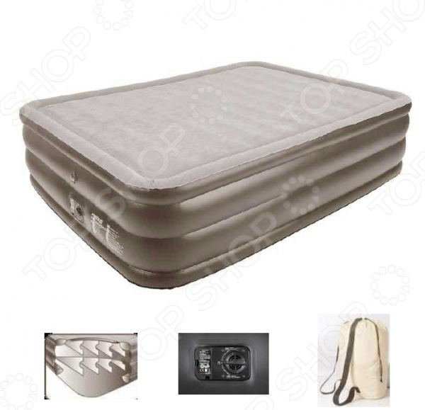 Кровать надувная со встроенным электронасосом Relax Air bed with memory foam надувная мебель relax кровать надувная со встроенным эл насосом high raised air bed queen