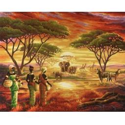 Купить Набор для рисования по номерам Schipper «Африка 2»