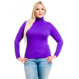 фото Водолазка Mondigo XL 046. Цвет: фиолетовый. Размер одежды: 48