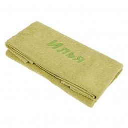 фото Полотенце подарочное с вышивкой TAC Илья. Цвет: зеленый