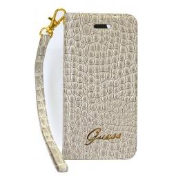 фото Чехол Guess Wallet Case Croco для iPhone 5. Цвет: бежевый