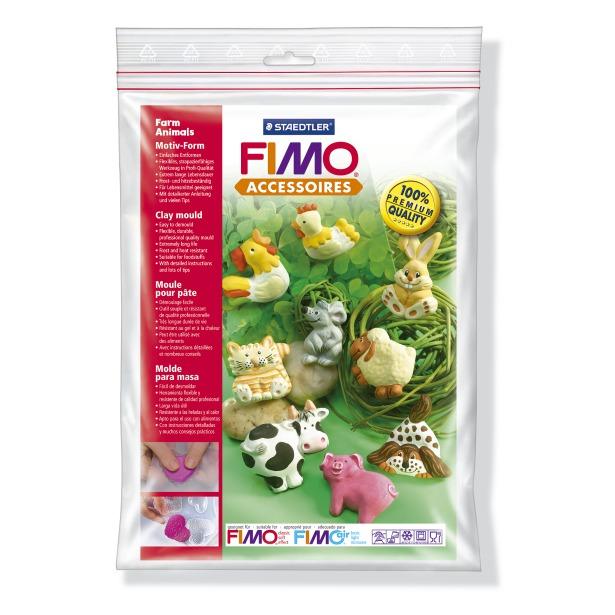 фото Набор формочек для лепки Fimo «Животные фермы»