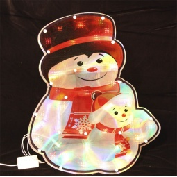 Купить Декорация рождественская с гирляндой Метелица «Снеговик» 2277
