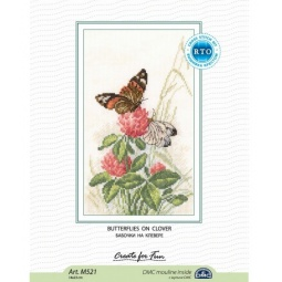 Купить Набор для вышивания RTO «Бабочки на клевере»
