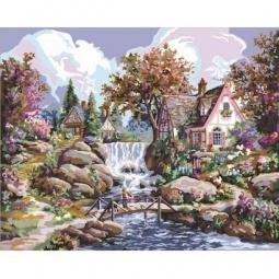 Купить Набор для рисования по номерам PLAID «Водопад Ангела»