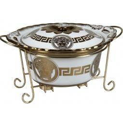 фото Форма для горячих блюд Rosenberg 9333. Рисунок: золотые узоры