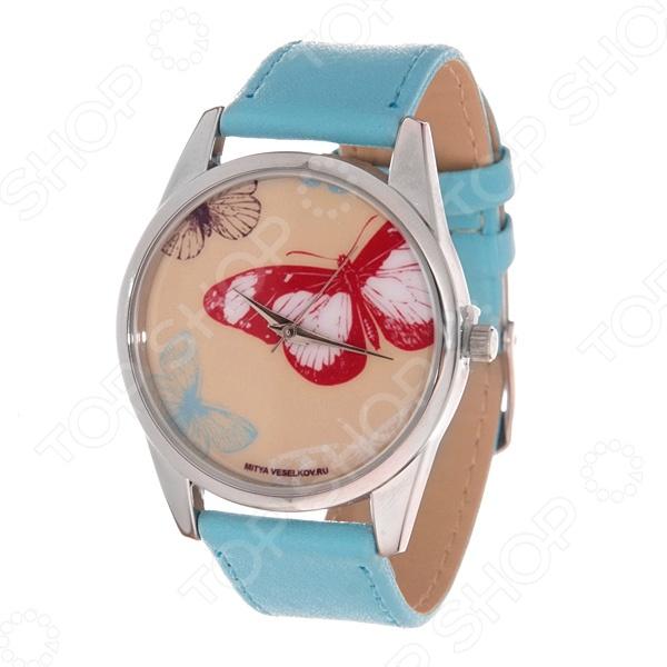 Часы наручные Mitya Veselkov «Цветные бабочки» Color часы наручные mitya veselkov райский сад color