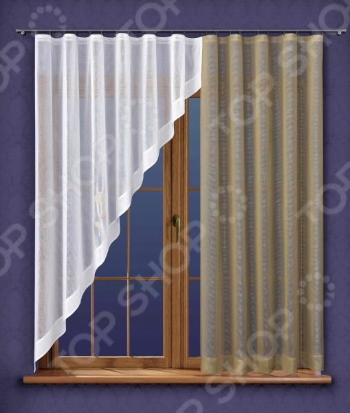 Комплект штор для кухни Wisan 5829 шторы интерьерные wisan комплект штор для кухни