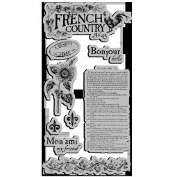 фото Набор клинг-штампов Graphic45 French Country-1