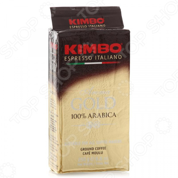 Кофе молотый в вакуумной упаковке Kimbo Aroma Gold 100% ArabicaКофе молотый<br>Кофе молотый в вакуумной упаковке Kimbo Aroma Gold 100 Arabica великолепный напиток, выполненный в лучших итальянских традициях. Такой образец станет прекрасной основой для приготовления ароматного и вкусного кофе, способного очаровать даже самых взыскательных гурманов и кофеманов. Этот кофе деликатная смесь лучших сортов Арабики 100 . Благодаря тому, что обжарка кофе проходит по классической схеме, в результате получается великолепное сырье с утонченным вкусовым букетом и многогранным ароматом. Уникальная бережная технология изготовления и упаковки обеспечивает непревзойденное качество продукта. Этот кофе обладает нежным вкусом с мягкой кислинкой и оптимальной консистенцией для повседневного приготовления. Молотый кофе также отличается тонким ароматом, который просто обволакивает, что делает его идеальным напитком в любое время дня.<br>