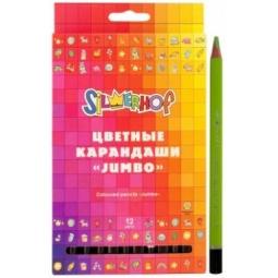 фото Набор карандашей цветных Silwerhof Jumbo Emotions Creative: 12 цветов