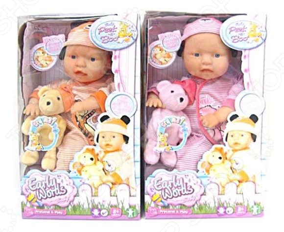 Пупс Shantou Gepai с озвученным мишкой EARLY WORDS кукла shantou gepai early words 9822