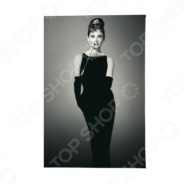 Обложка для паспорта Mitya Veselkov «Одри в черном платье» обложка для автодокументов кожаная mitya veselkov одри в черном платье