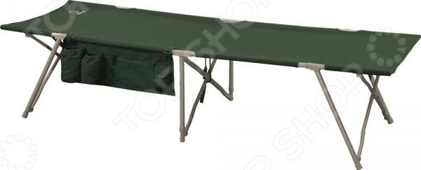 Кровать складная Greenell BD-3Раскладушки<br>Кровать складная Greenell BD-3 это удобная, компактная и легко переносимая кровать, которую можно брать с собой на рыбалку, дачу или поход. Кровать не занимает много места и быстро складывается. Встроен механизм быстрой установки и сборки. С боку имеет дополнительные карманы для хранения важных вещей. Каркас выполнен из матового алюминия. Нагрузка на кровать не должна превышать 120 кг.<br>