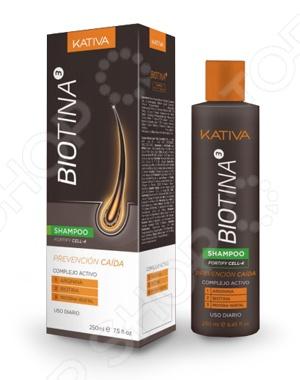 Шампунь против выпадения волос Kativa Biotina сыворотка флюид kativa тоник против выпадения волос с биотином kativa biotina 100мл