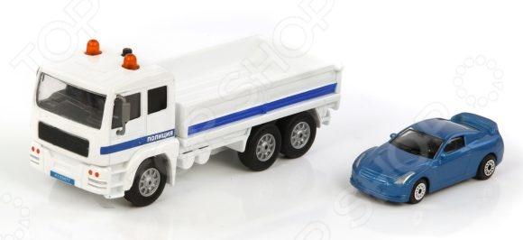 Модель коллекционная Пламенный Мотор «Полиция. Эвакуатор»Модели авто<br>Модель коллекционная Пламенный Мотор Полиция. Эвакуатор станет отличным подарком, который обязательно понравится не только детям, но и взрослым. Следует отметить высокую точность исполнения и внимание к деталям, ведь при создании игрушки ориентировались на модели реально существующих автомобилей. Все это также придает коллекционную ценность изделию. Игрушка оснащена инерционным механизмом, а также световыми и звуковыми эффектами элементы питания 3 LR41 в комплекте .<br>