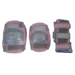фото Комплект защиты для роликовых коньков X-MATCH PW-308. Цвет: розовый. Размер: S