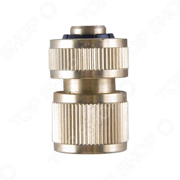 Коннектор для шланга Archimedes 90944Аксессуары для полива<br>Коннектор для шланга Archimedes 90944 стандартный коннектор, с помощью которого можно удобно подсоединить к шлангу принадлежности для полива, диаметром 13 мм. Оснащен надежным фитингом для системы полива. Изготовлен из высококачественных материалов и продержится долгое время. Сделан из латуни.<br>