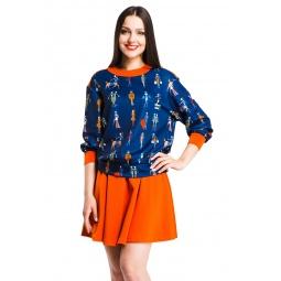 фото Свитшот Mondigo 5184. Цвет: темно-синий. Размер одежды: 42