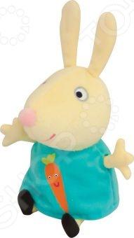 Мягкая игрушка Росмэн «Ребекка с морковкой»Мягкие игрушки<br>Мягкая игрушка Росмэн Ребекка с морковкой это замечательный подарок для вашего малыша! Героиня известного мультфильма с длинными ушками и добрыми глазками украсит любую детскую комнату и принесет радость и веселье во время игр. Игрушка изготовлена из велюра, а набивкой служит полиэфирное волокно. Детали мордочки и аппликация выполнены в виде плотной вышивки. Все материалы абсолютно безвредны для здоровья ребенка. Они не выгорают на солнце и невероятно мягкие. Мягкая игрушка Росмэн Ребекка с морковкой поможет развить воображение, тактильные навыки, зрительную координацию и мелкую моторику рук. Кроме того, тренируется наблюдательность, образное восприятие и логическое мышление.<br>
