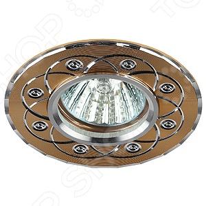 Светильник встраиваемый Эра KL40 SL/GD фонарь брелок эра 1xled с лазерной указкой