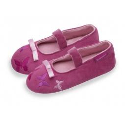 фото Тапочки-балетки детские Isotoner 99325. Цвет: розовый. Размер: 32