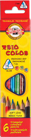 Набор карандашей цветных Koh-I-Noor Tricolor