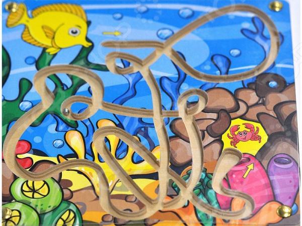 Игра развивающая Мастер игрушек «Лабиринт с шариком: Рыбка и краб»Другие обучающие и развивающие игры<br>Игра развивающая Мастер игрушек Лабиринт с шариком: Рыбка и краб увлекательная развивающая игра, которая способствует целостному восприятию, расширяет кругозор и смекалку, учит сопоставлять предметы. Внутри есть шарик, который нужно привести от рыбки к крабу, наклоняя в нужные стороны.<br>