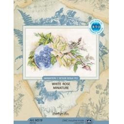 фото Набор для вышивания RTO «Миниатюра с веткой белых роз»
