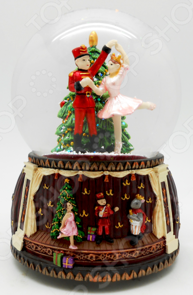 Снежный шар музыкальный Crystal Deco «Щелкунчик. Танец Балерины» 1707571