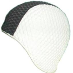 фото Шапочка для плавания Larsen «Бабл-кап» 3261. Цвет: белый, черный