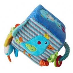 фото Мягкая игрушка развивающая Жирафики «Кубик с игрушками»