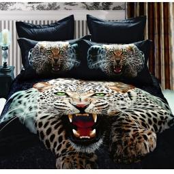 фото Комплект постельного белья с эффектом 3D Buenas Noches Leopard. 2-спальный