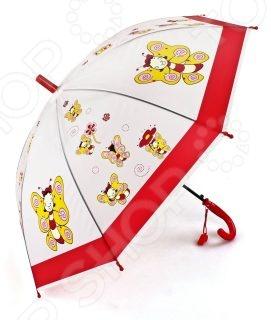 Зонтик Mary Poppins Пчелка 63867 предназначен специально для детей. Его прозрачный купол, диаметром 50 см, защитит вашего малыша от непогоды. Ни проливной дождь, ни сильный ветер с этим аксессуаром не страшны, ведь купол очень надежно закреплен на каркасе. Изогнутая форма ручки позволяет крепко держать зонт в руках. Также к ней прикреплен свисток, что непременно понравится ребенку. В целях безопасности, концы спиц закрыты пластиковыми шариками. Простоту складывания обеспечивает полуавтоматическая система.