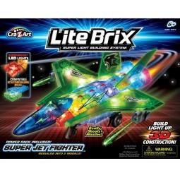 Купить Конструктор игровой со световыми эффектами Lite Brix «Самолет» 35814