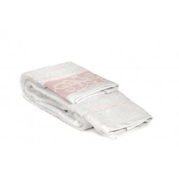 фото Полотенце Tete-a-Tete махровое Т-МП-6463. Размер: 70х140 см. Цвет: розовый, белый