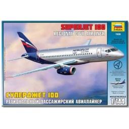 фото Сборная модель Звезда Пассажирский авиалайнер «Суперджет 100»