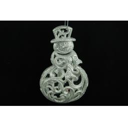 фото Елочное украшение Crystal Deco «Снеговик». Цвет: шампань