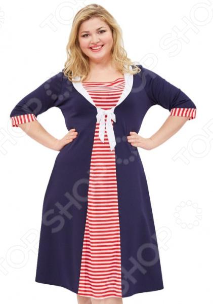 Платье Матекс «Океания». Цвет: красныйПовседневные платья<br>Платье Матекс Океания это легкое платье, которое поможет вам создавать невероятные образы, всегда оставаясь женственной и утонченной. Благодаря свободному крою оно скроет недостатки фигуры и подчеркнет достоинства. В этом платье вы будете чувствовать себя блистательно в любой ситуации. Можно отметить следующие преимущества:  Универсальная длина ниже колена. Юбка расклешенная.  Рукава с контрастными манжетами.  Вырез горловины каре.  Спереди идет контрастная вставка, украшена завязками.  Оригинальная цветовая гамма и стильный принт позволяют создавать изысканные образы. Платье изготовлено из мягкой ткани, которая хорошо тянется 65 вискоза, 30 полиэстер, 5 лайкра, вставки: 100 полиэстер , благодаря чему материал не скатывается и не линяет после стирки. Полиэстер предохраняет вещь от измятия и быстро высыхает после стирки.<br>
