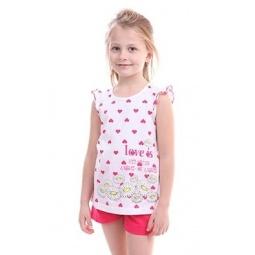 фото Комплект для девочки: топ и шорты Свитанак 606502. Рост: 98 см. Размер: 26