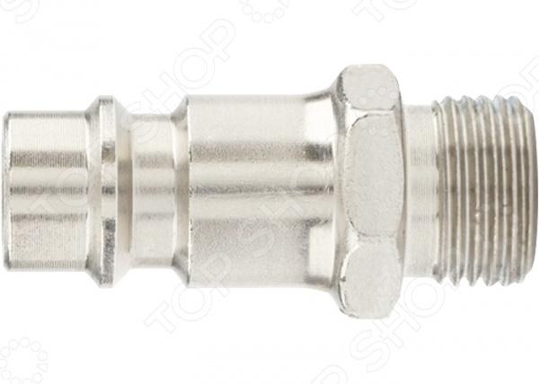 Ниппель универсальный быстросъемный Stels с внешней резьбойДругое для пневмоинструмента<br>Ниппель универсальный быстросъемный Stels с внешней резьбой переходник типа папа , используемый для быстрого соединения пневматических шлангов. Деталь выполнена в форме трубки и снабжена внешней резьбой. В набор входят два ниппеля.<br>