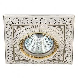 Купить Светильник потолочный встраиваемый Эра KL47 WH/GD