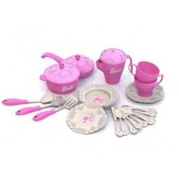 Купить Игровой набор для девочки Нордпласт «Кухонная и чайная посудка. Барби» 639