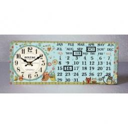 фото Часы настольные с календарем Феникс-Презент «Совята»
