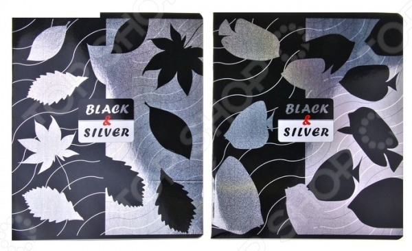 Silver&Black Тетрадь в клетку с голографией Erich Krause Silver&Black. В ассортименте