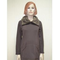 фото Туника теплая для беременных Nuova Vita 2301.01. Цвет: коричневый. Размер одежды: 48